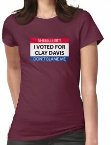 I voted for Clay Davis Womens Fitted T-Shirt