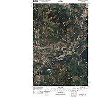 USGS Topo Map Washington State WA Dunn Mountain 20110406 TM Photographic Print