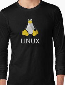 Tux the Penguin flatshaded Long Sleeve T-Shirt