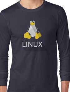 Tux the Penguin flatshaded Long Sleeve T-Shirt