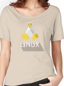 Tux the Penguin flatshaded Women's Relaxed Fit T-Shirt