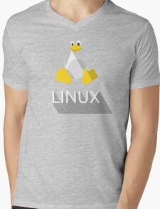 Tux the Penguin flatshaded Mens V-Neck T-Shirt