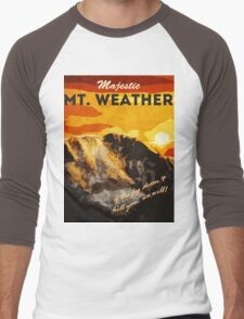 The 100 - Vintage Travel Poster (Mt. Weather) Men's Baseball ¾ T-Shirt