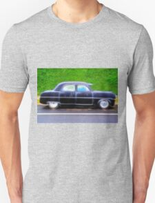 Black Retro Ford Car on Road T-Shirt