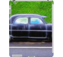 Black Retro Ford Car on Road iPad Case/Skin