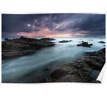 """""""A Meeting Place & Time"""" ∞ Hastings Point, NSW - Australia Poster"""