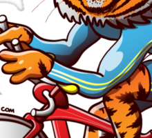Olympic Cycling Tiger Sticker