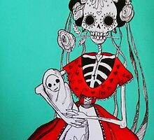 Día de los Muertos Mother and baby by 1Artistmind