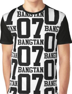 BTS/Bangtan Boys Jersey Style w/Number Graphic T-Shirt