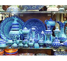 Blue Pottery Istanbul Photographic Print
