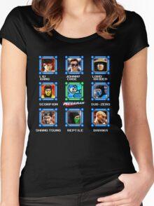 MegaMan vs Mortal Kombat Women's Fitted Scoop T-Shirt