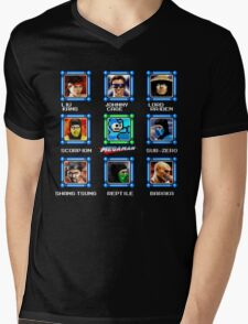 MegaMan vs Mortal Kombat Mens V-Neck T-Shirt