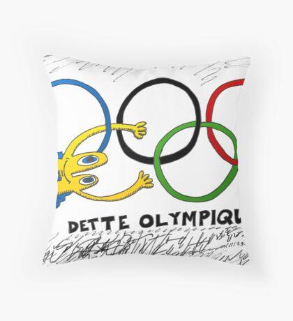 Dette Olympique avec Euroman en BD Throw Pillow