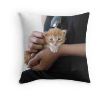 Holding hands with Maine Coon Throw Pillow
