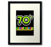 70s disco Framed Print