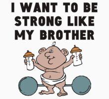 Strong Like My Brother Kids Tee