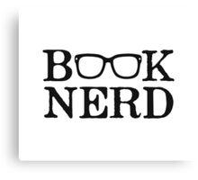 Book Nerd Nerdy Glasses Canvas Print