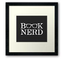 Book Nerd Nerdy Glasses Framed Print