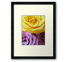 Yellow and Purple Roses Framed Print