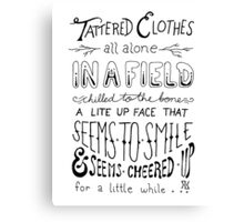 Tattered Clothes Canvas Print