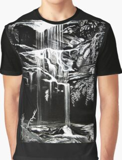 Waterfall, Blue Mountains Graphic T-Shirt