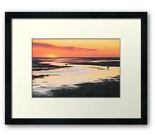 Tidal Flats at Sunset Framed Print