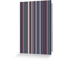 Blue grey stripes Greeting Card