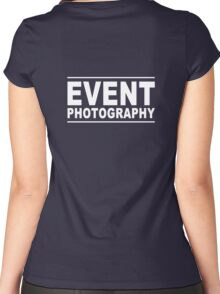 event photography Women's Fitted Scoop T-Shirt