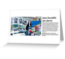 Oak Hill Gallery Members Exhibition 2012 Newspaper Article Greeting Card