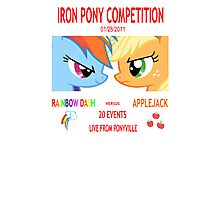 Rainbow Dash vs Applejack Photographic Print