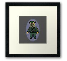 German Hero Framed Print