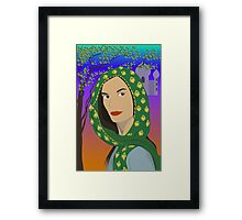 east woman Framed Print