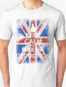 KEEP CALM and Make a Deduction - UJ - White Unisex T-Shirt