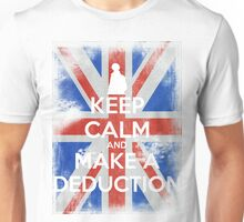 KEEP CALM and Make a Deduction - UJ - White Unisex T-Shirt