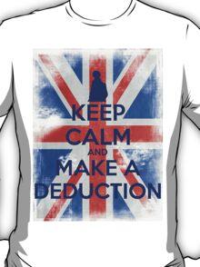 KEEP CALM and Make a Deduction - UJ - Blue T-Shirt