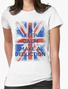 KEEP CALM and Make a Deduction - UJ - Blue Womens Fitted T-Shirt