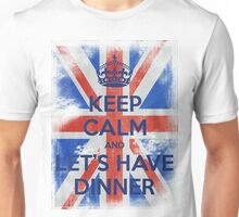 KEEP CALM and Let's Have Dinner - UJ - Blue Unisex T-Shirt