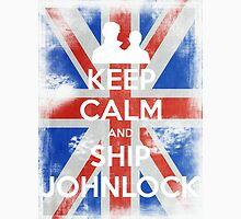 KEEP CALM and Ship Johnlock - UJ - White Unisex T-Shirt