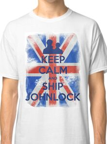 KEEP CALM and Ship Johnlock - UJ - Blue - 2 Classic T-Shirt
