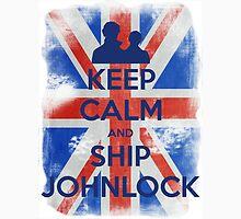 KEEP CALM and Ship Johnlock - UJ - Blue - 2 Unisex T-Shirt