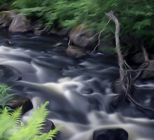 Flowing water by Tommi Rautio
