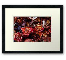 Rustic Flowers Framed Print