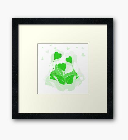 ecology emblem Framed Print
