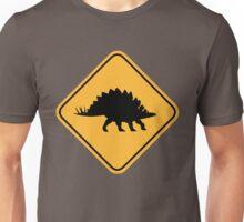 Caution - Stegosaurus crossing Unisex T-Shirt