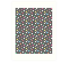 Disco Blocks Art Print