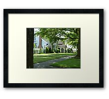 Summer in a small town Framed Print