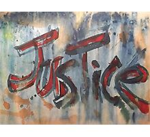 Justice Photographic Print