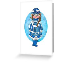 Star Wars BB-8 Girl Greeting Card