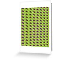 Green Yellow Fish Scales Greeting Card
