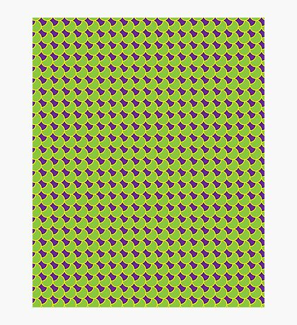 Green Yellow Fish Scales Photographic Print